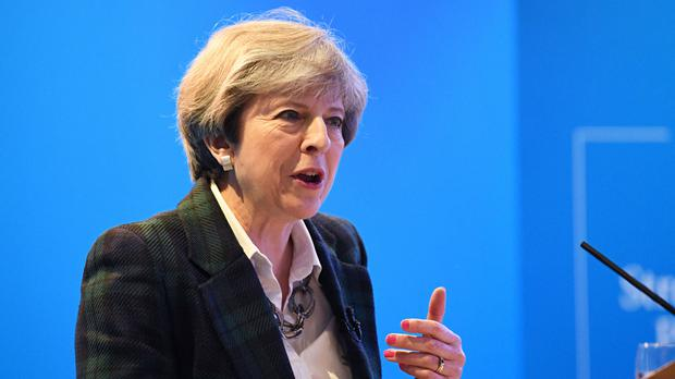 British Prime Minister Theresa May Photo: PA News
