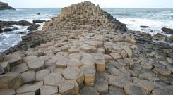 The Giant's Causeway in North Antrim, one of the key tourism attractions of Northern Ireland