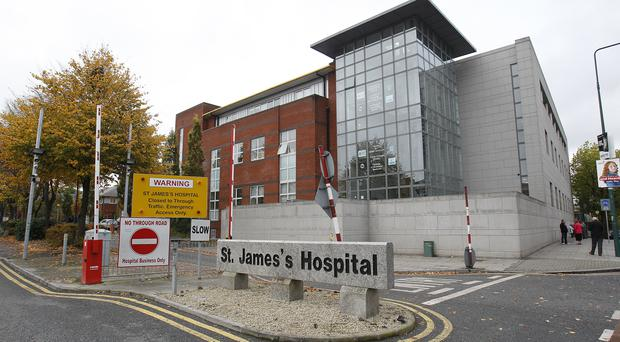 A man found unresponsive with a head injury was taken to St James's Hospital