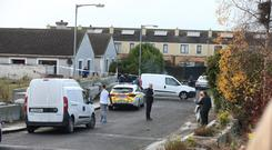 Garda activity at Parslickstown Gardens, in Blanchardstown, west Dublin, after the shooting