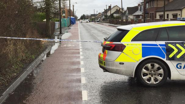 The scene after a man died and two others were injured in a series of attacks on Avenue Road in Dundalk