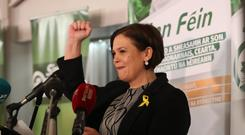 Mary Lou McDonald will succeed Gerry Adams (Niall Carson/PA)