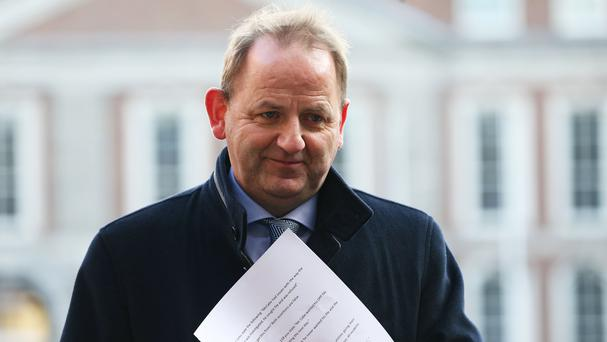 Maurice McCabe arriving at the Disclosures Tribunal in Dublin Castle (Brian Lawless/PA)