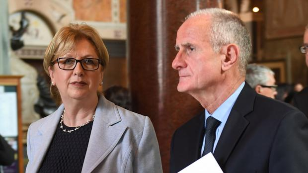 Mary McAleese, pictured with her husband Martin, told the Archbishop of Dublin she was being excluded from a conference in the Vatican. (Victoria Jones/PA)