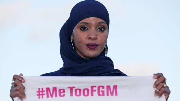 Ifrah Ahmed launches #MeTooFGM, a worldwide social media campaign against female genital mutilation (Niall Carson/PA)