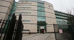 Belfast Crown Court is hearing the case of three Ulster Rugby players accused of rape (Niall Carson/PA)