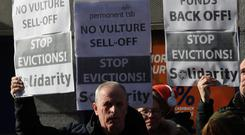 Vulture funds protest