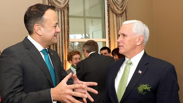 Leo Varadkar and US vice president Mike Pence (Marty Katz/Government Press Office/PA)