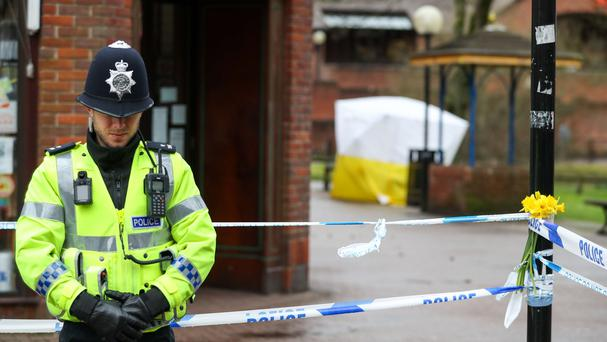 Police at the scene of the Salisbury attack (Andrew Matthews/PA)