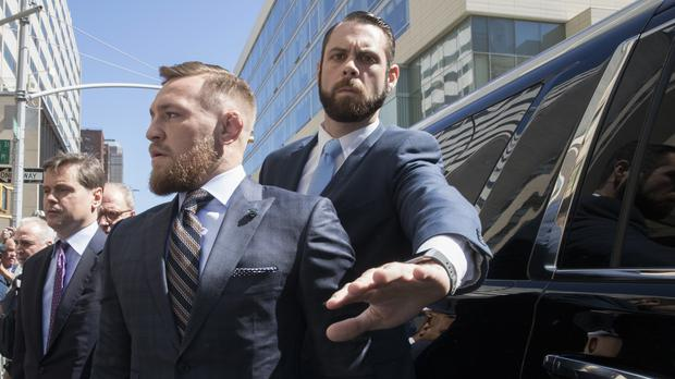 Conor McGregor leaves a Brooklyn court(AP Photo/Mary Altaffer)