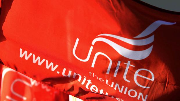 The union said the industrial action was over the pay dispute and the firm's refusal to engage with Unite (nthony Devlin/PA)