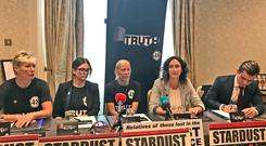 Members of the Stardust Justice campaign group (Aoife Moore/PA)