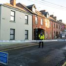 The scene on Linen Hall Street in Dundalk where a woman was fatally stabbed (Liam McBurney/PA)