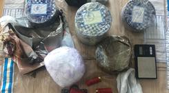 Heroin and cocaine were among the items seized in Blanchardstown (Handout Garda)
