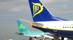 Some flights were rerouted to Dublin because of the failure