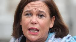 Mary Lou McDonald said said 'not one red cent' of state money should be spent defending Martin Callinan (Niall Carson/PA)