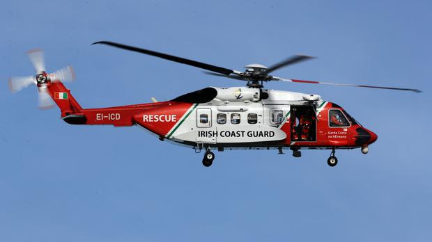 Rescue 115 airlifted the woman to hospital (Chris Radburn/PA)