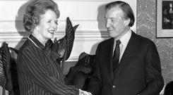 Charles Haughey and Margaret Thatcher