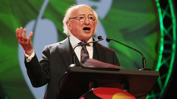 President Michael D Higgins officially opens the BT Young Scientist and Technology Exhibition (Niall Carson/PA)