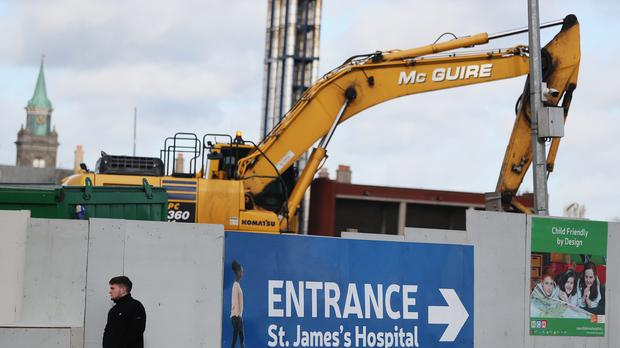 Work continues at the site of the new National Children's Hospital (Brian Lawless/PA)