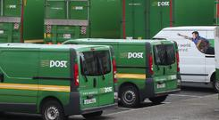 An Post is set to bring in 750 zero emissions vehicles for their urban fleet Stock photo