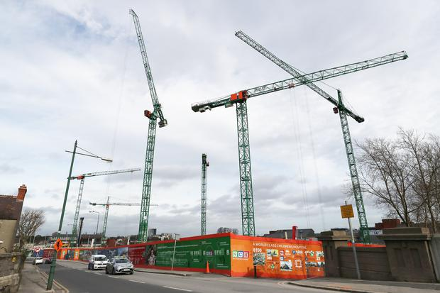 Construction of the new National Children's Hospital taking place in Dublin (Niall Carson/PA)