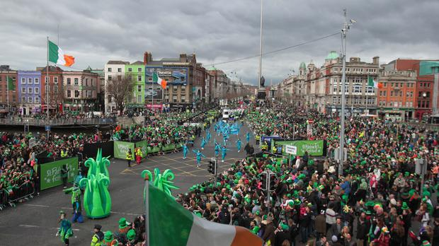 'March 17 has become an international day of celebration worldwide, for the 70-million plus Irish diaspora' (stock picture)