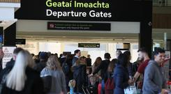 The departure gates at Terminal 1 in Dublin Airport . Photo: Brian Lawless/PA