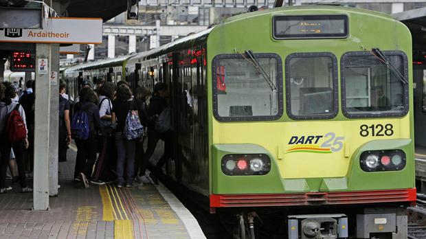 Commuters living along the Dublin coastline pay a particularly high premium to live close to a Dart station. (DART Stock picture)