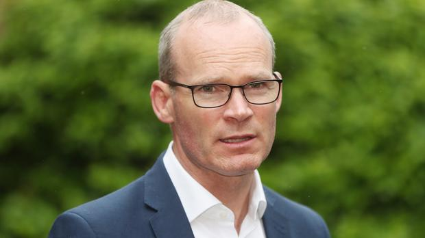 Simon Coveney announced the aid package to the UN Agency for Palestine Refugees (PA)