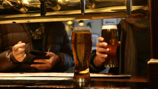 The group has called on the Government to reduce alcohol excise tax by 15% over the next two years (Yui Mok/PA)