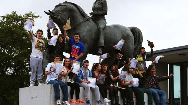 Tens of thousands of pupils are learning their Leaving Certificate results (Brian Lawless/PA)