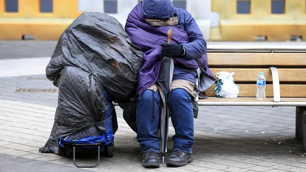 'Sleeping in our warm beds we scarcely have time to worry about those bunking down in doorways or in flimsy tents, on freezing nights. It is simply too much for us to dwell on' (stock photo)