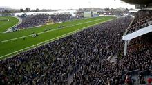 Crowds on day four of the Cheltenham Festival (Tim Goode/PA)