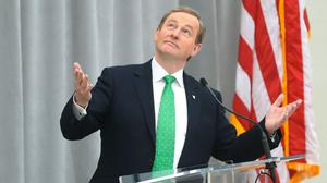 Taoiseach Enda Kenny in Washington last week Picture: PA