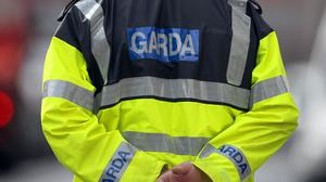 A male Garda was treated in hospital for injuries arising from the incident.