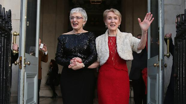 Katherine Zappone (left) announced the death of her wife Ann Louise Gilligan
