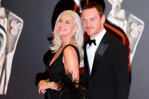 Olivia Treacy with Michael Fassbender at the IFTA Awards at the Convention Centre in Dublin. Picture:Arthur Carron