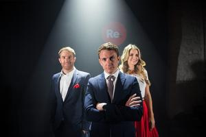 Picture shows from left Luke Fitzgerald;Emmet O'Neill, CEO of Topaz; and Vogue Williams present Re.Store, a dynamic new Irish food, coffee and convenience concept who have joined forces with Ireland's leading fuel retailer, Topaz, to revolutionise the for