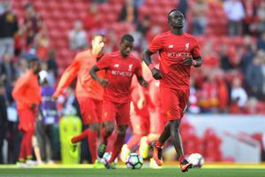 Champions: Sadio Mané wearing the 2016 training top