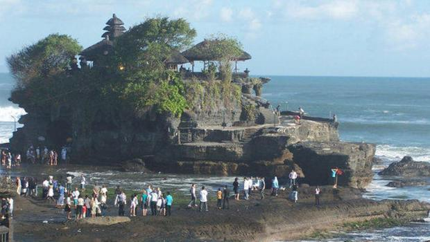 The ancient Tanah Lot temple which the new Trump resort will overlook