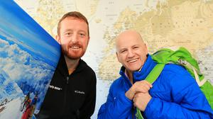 Sean Gallagher with James McManus from Earth's Edge Picture: Gerry Mooney