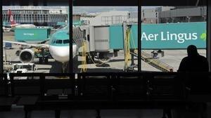 'Aer Lingus announced last week it was temporarily laying off its Shannon-based cabin crew.' Photo: Aidan Crawley/Bloomberg