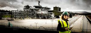 LIFE'S A GAS: Reporter Sarah McCabe at the Corrib site. Photo: Keith Heneghan