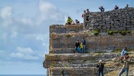 It seems likely that Irish tourist spots such as Dún Aengus will have to increasingly reply on British and mainland European visitors