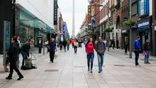 Back to business: People are returning to Dublin city centre as the lockdown restrictions are eased. Photo: Collins Dublin, Gareth Chaney