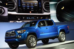 Toyota reveals its new Tacoma truck at The North American International Auto Show in Detroit, Michigan, on January 12, 2015. Photo: Getty Images