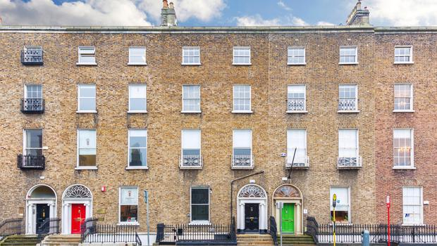 No 44 Lower Leeson Street is for sale at a guide price of €1.9m and includes a mews property to the rear