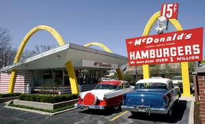 (FILES) A replica of Ray Kroc's first McDonald's franchise 14 April, 2005 is seen in Des Plaines, Illinois. McDonald's May 4, 2015 said it would vastly reorganize its international operations and sell off more corporate sites to franchisees as it strives to reverse a trend of sagging sales. The US fast-food burger giant said its overseas markets will be organized by their maturity within the McDonald's system, rather than by region. Its current structure splits markets outside its home US market into Europe and Asia/Pacific, Middle East and Africa.     AFP PHOTO/FILES/JEFF HAYNESJEFF HAYNES/AFP/Getty Images