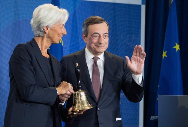 Change at the top: Mario Draghi was ECB president until last year